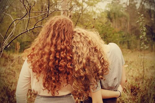 if only we had curly hair... and I was a ginger:P
