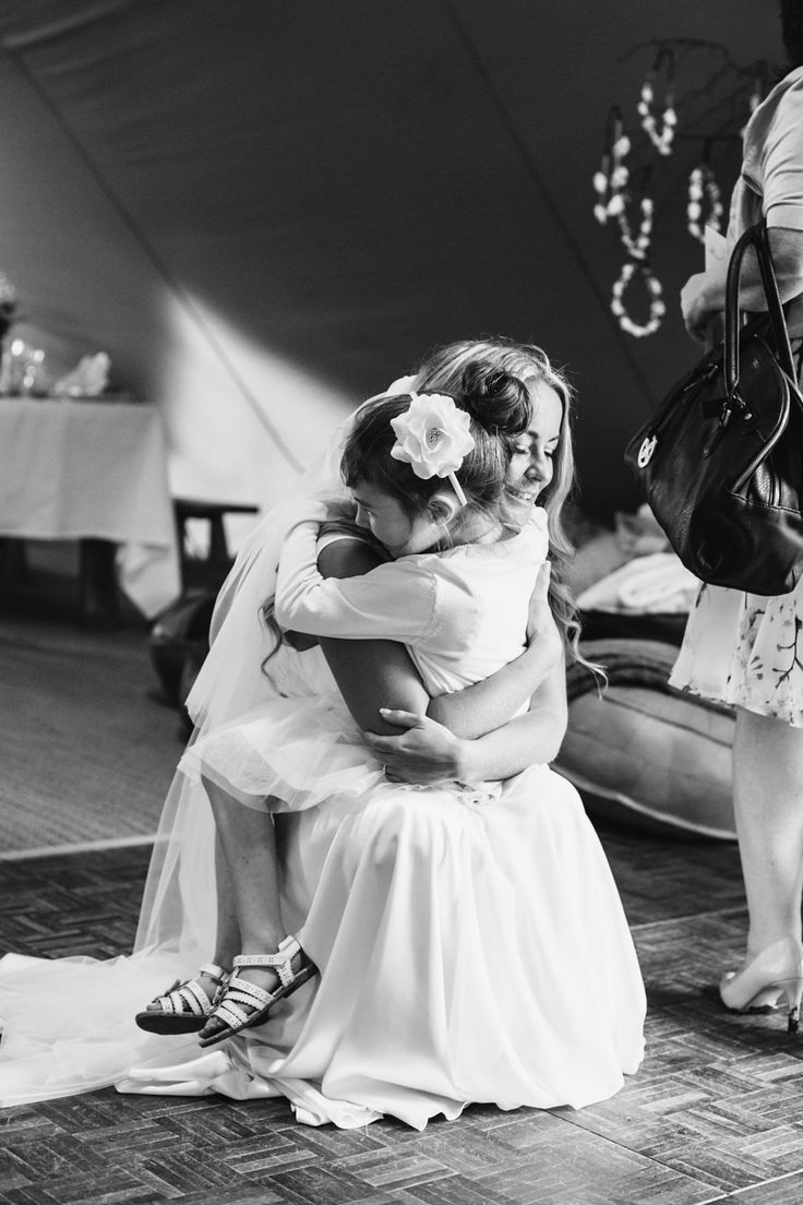 Outdoor Wedding   Bride In Bespoke Wedding Dress   White Colour Scheme   Lucy Little Photography   http://www.rockmywedding.co.uk/jayne-bobby/