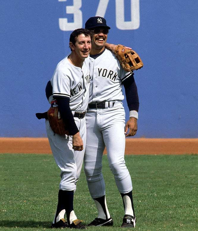 Billy Martin and Reggie Jackson 1977 Billy Martin and Reggie Jackson share a moment before Game 5 of the World Series against the Los Angeles Dodgers. Read More: http://sportsillustrated.cnn.com/multimedia/photo_gallery/0906/iconic.yankees/content.12.html#ixzz2c61f0n3j