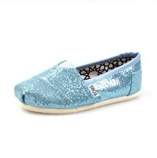 Toms Kids Shoes Turquoise Tiny Glitters  $23.79