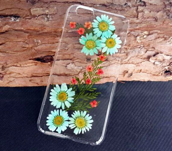 Pressed flower iPhone 6 CaseDaisy Phone by UUniquecase on Etsy
