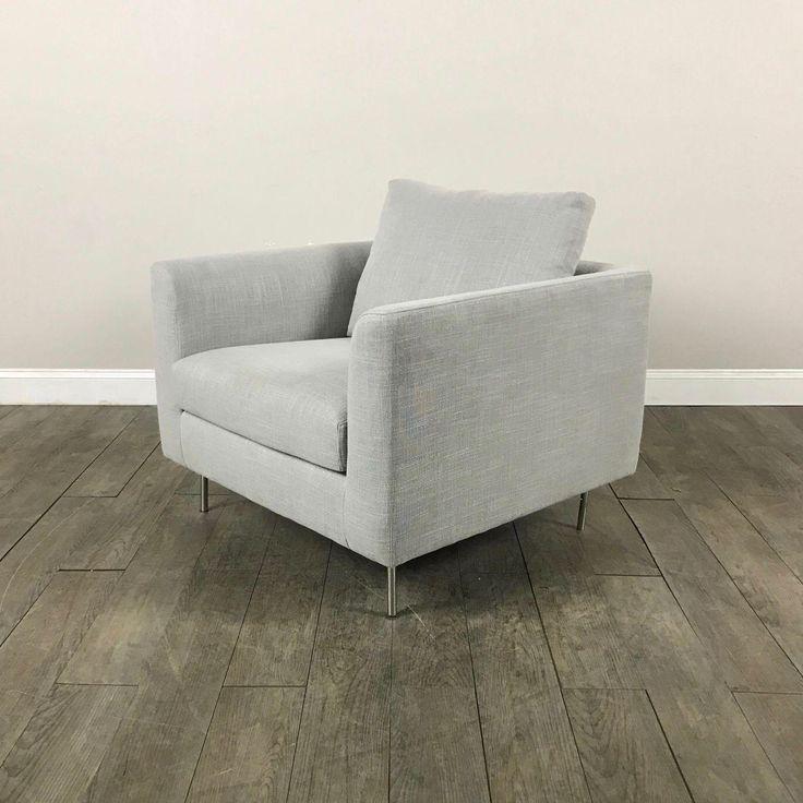 Clean Lined Modern Armchair on Chairish.com