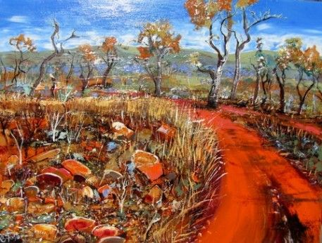 carole foster painter | Carole Foster - Track Into Walsh's Point 91 x 121cm