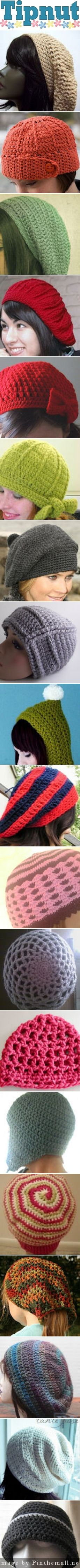 25+ Free Crochet Hat Patterns from TipNut - created via http://pinthemall.net