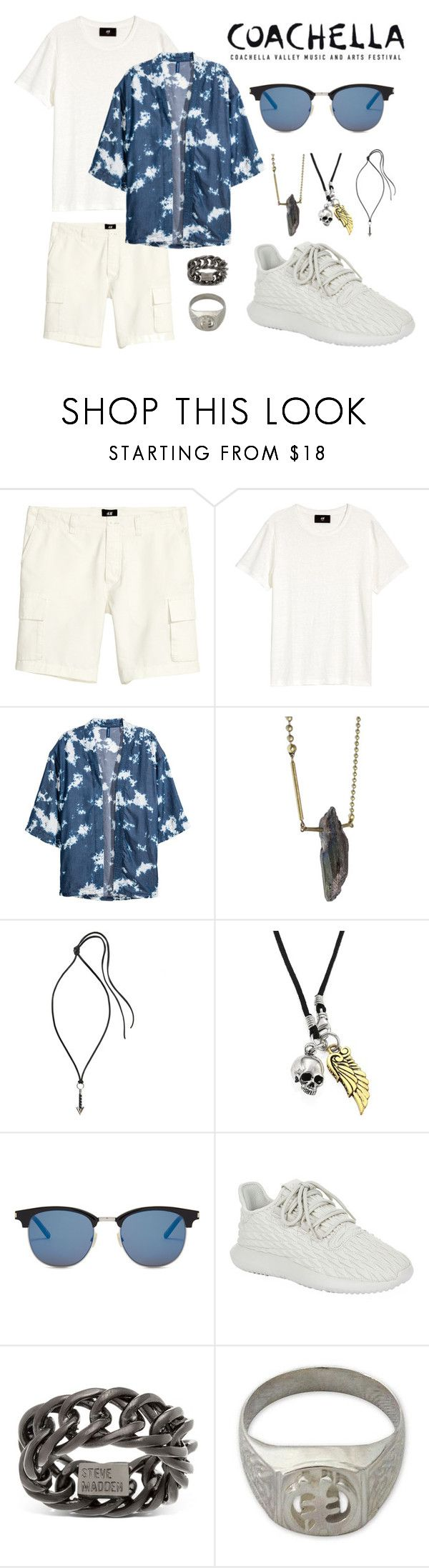 """""""COACHELLA MEN'S #2"""" by akfhxny on Polyvore featuring Isabelle Zumbrunn, Lanvin, King Baby Studio, Yves Saint Laurent, adidas Originals, Steve Madden, NOVICA, men's fashion and menswear"""