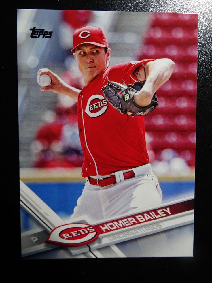 2017 Topps Series 1 #200 Homer Bailey Cincinnati Reds Baseball Card #Topps #CincinnatiReds