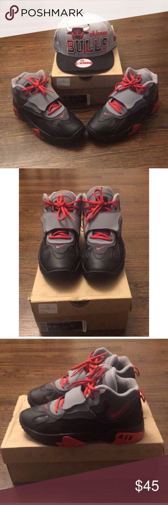 Nike Speed Turf Nike Speed Turf. University Red, Dark Grey & Black. Size 6.5Y. Original Box. Gently Worn. (Hat Can Be Purchased Separately) Nike Shoes Sneakers