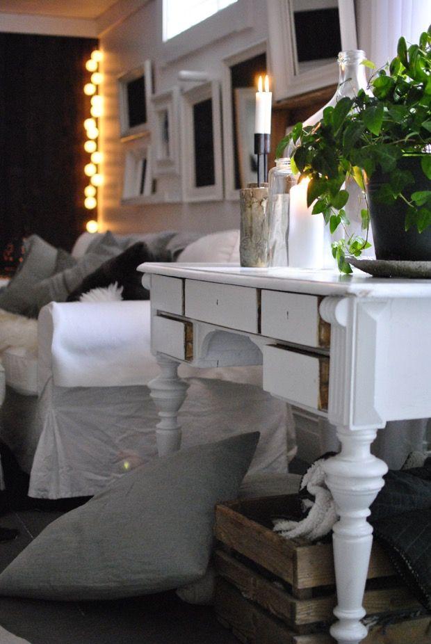 antik skrivbord vardagsrum hannashantverk.blogspot.se