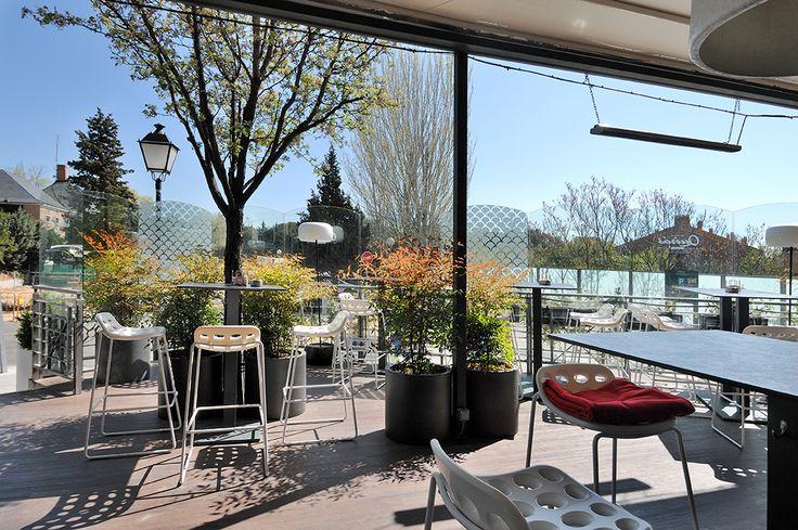 La terraza del Restaurante La Casa de Quirós