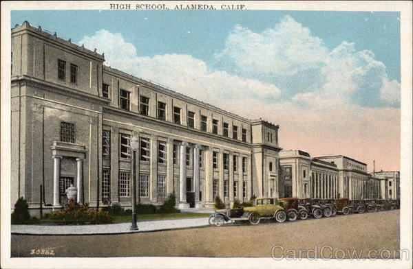 The old Alameda High School, right next to the new one