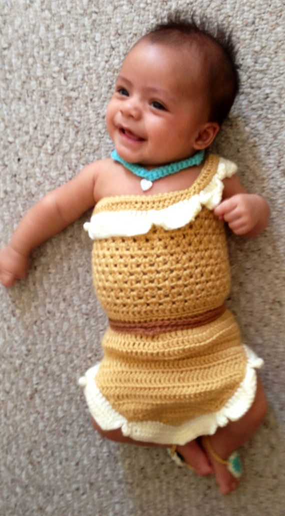 She's adorable! yep! done photo up for future Nuggets.... DONE!! crochet photo prop Disney's Pocahontas by momscrochetcorner, $30.00 this needs to be my daughters halloween costume