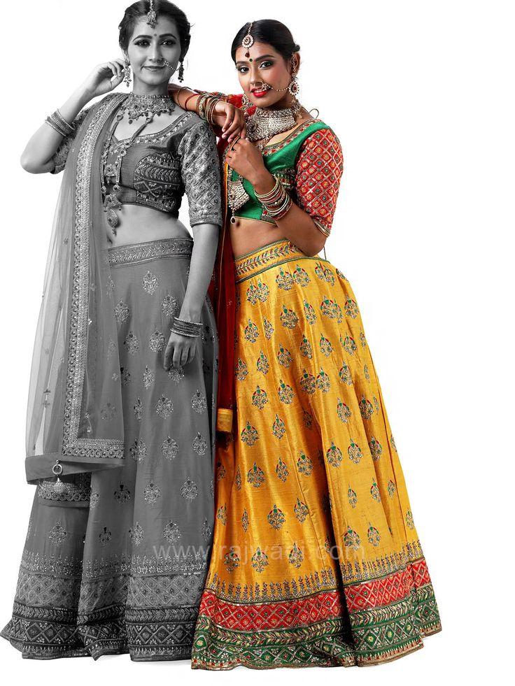 Bridal Traditional Raw Silk Choli Suit #rajwadi #cholisuit #readycholi #lehengas #embroidered #FeelRoyal #bridal #colorful