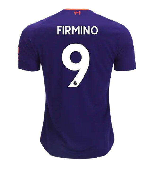 Roberto Firmino 9 Liverpool 2018 2019 Away Soccer Jersey A Purple Soccer Jersey Liverpool Soccer Football Outfits
