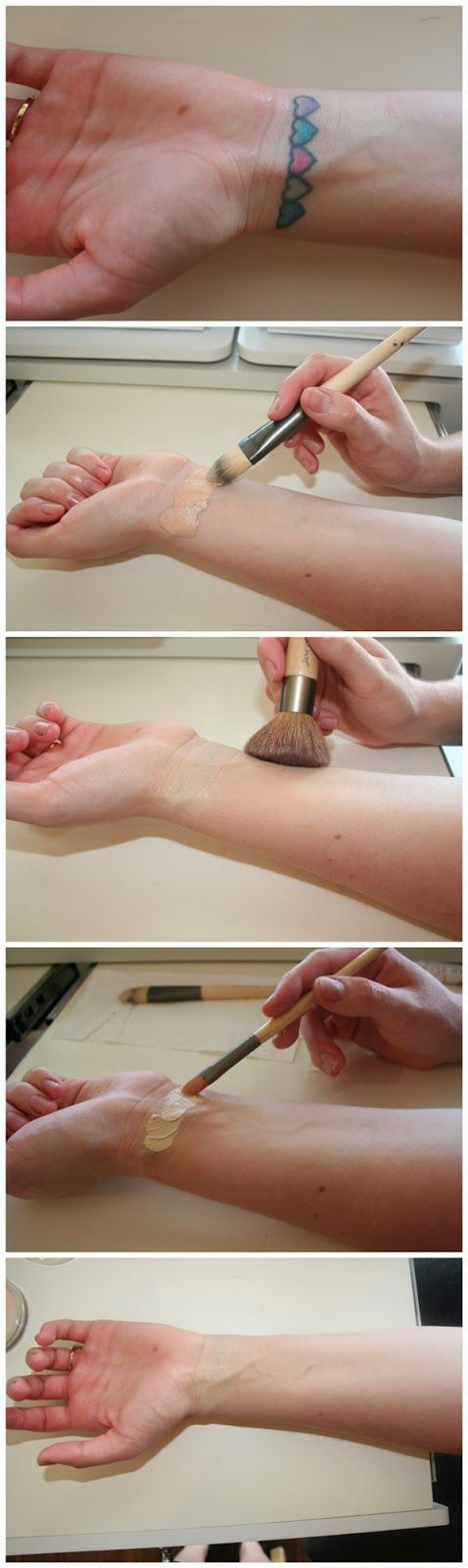 How to cover a tattoo with makeup. This will be so helpful with sign language interpreting. If it's small enough in the hand area you could also use a bandaid