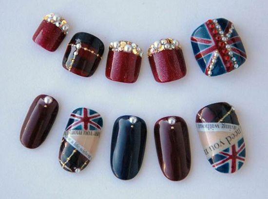 toenail painting pictures   SWINGING LONDON NAIL ART » Cosmetics nail polish