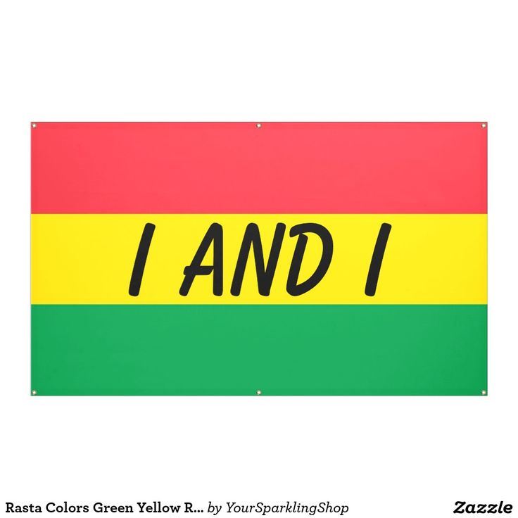 #Rasta Colors Green Yellow Red Stripes Flag Pattern #Party #Banner with your text