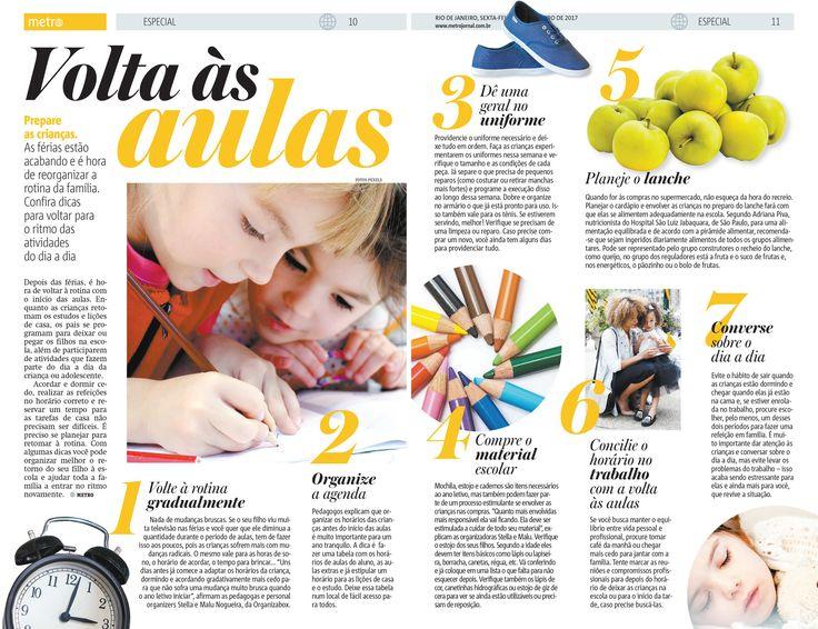 Nossas dicas que saíram em Janeiro no Jornal Metro do Rio. Em breve a nova reportagem aqui de SP.<br />📰📰😍<br />.<br />Organize-se e aproveite mais o tempo com seus filhos!
