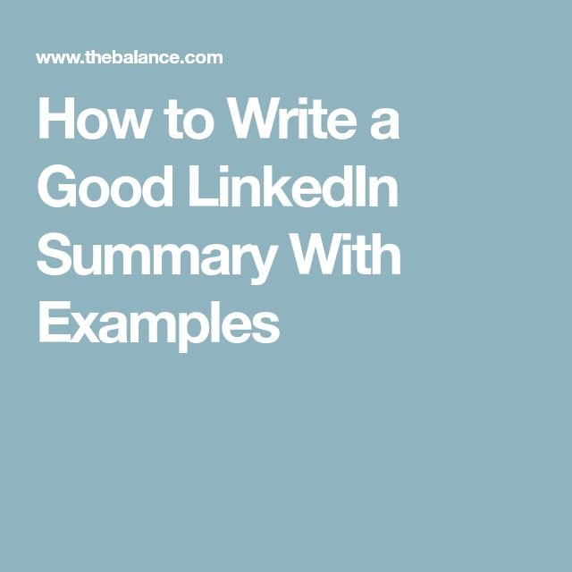 How to Write the Perfect LinkedIn Profile Summary