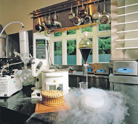 The molecular gastronomy laboratory or just his usual plain kitchen? (Heston Blumenthal's)