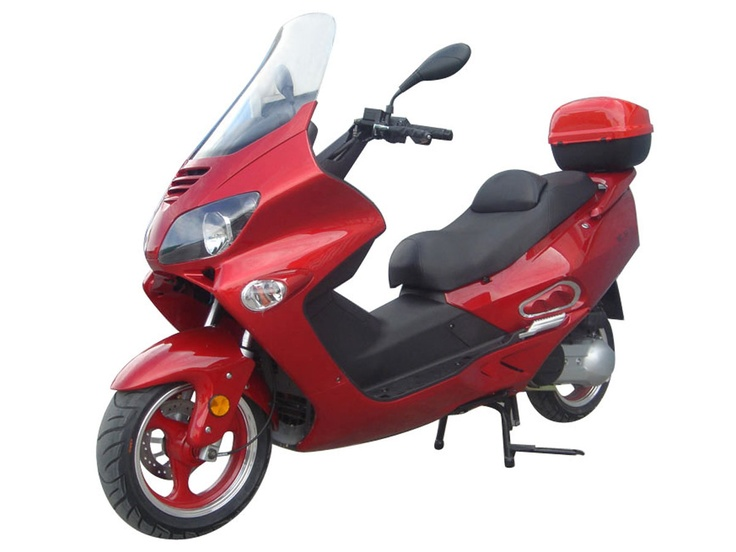 "SCO013 250cc Scooter with CVT Transmission, Disc Brakes, 13"" Tires $1700.00"