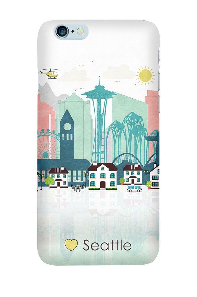 Phone case Seattle city, Washington, United States, Skyline