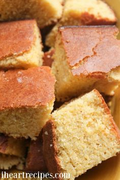 This southern cornbread recipe is the BEST! Make and serve with your beans & rice, gumbo, smothered chicken, or to makecornbread dressing ! I love cornbread, but this southern cornbread recipe has got to be my favorite! My mom served this cornbread with 80% of our meals. No seriously – if we had red beans …