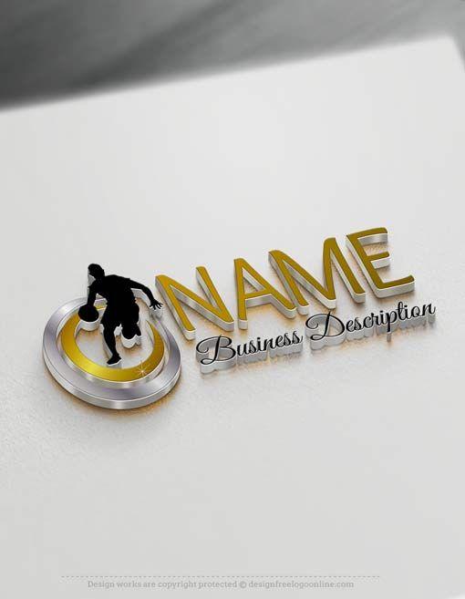 Free logo maker – Online Basketball logo template