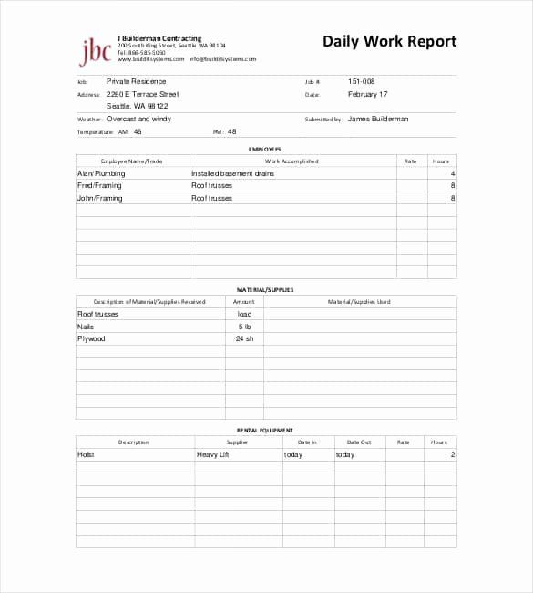 Free Construction Daily Report Template Excel New 64 Daily Report Templates Pdf Docs Excel Progress Report Template Daily Report Template Report Template Word