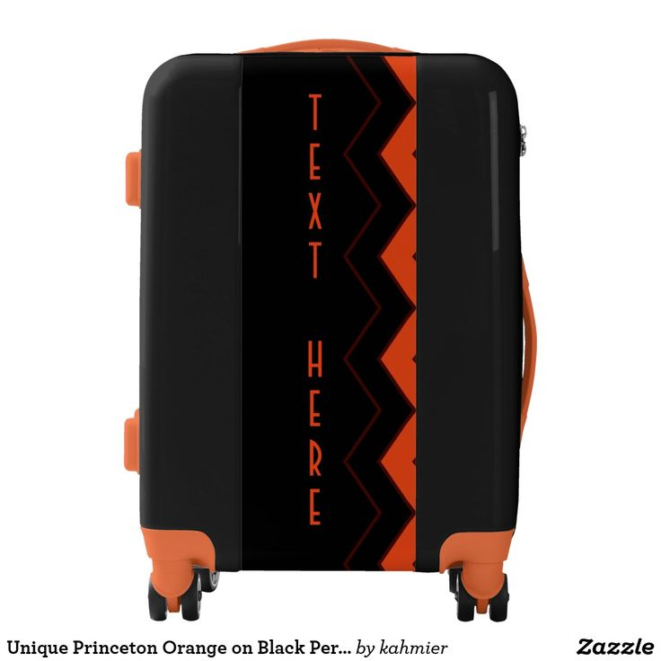 This is neat Unique Princeton Orange on Black Personalized Luggage  20% OFF #princetonschool #collegestudent
