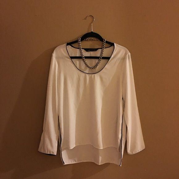 Zara High Neck Lace Blouse 98