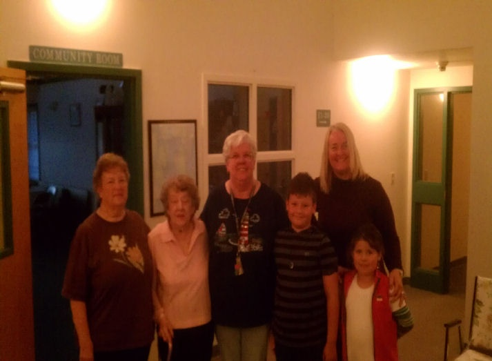 April,Mom,me and cousin Tracy and tracys children.