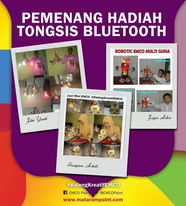 Berikut adalah 3 pemenang tongsis bluetooth #2  1. Fitri Yanti - Padang 2. Fajar Advis - Gresik 3. Hanjanu Astuti - Lamongan