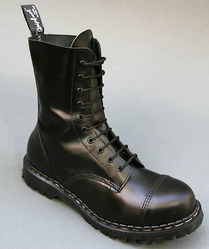 the last 100% U.K. constructed boots to complete proper skinhead street attire. few places carry them nowadays, but Stompers in San Francisco prides themselves on carrying high end hard to find boots.