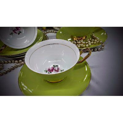 Tazas te vintage tipo antiguas porcelana color la melange for Tazas de te estilo vintage