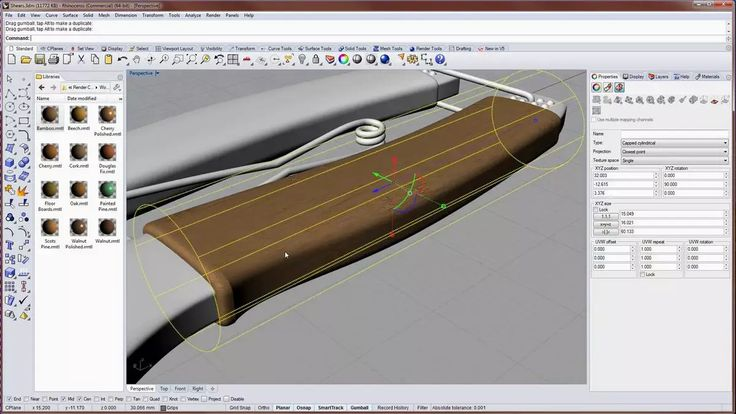 Texture mapping in Rhino 5 for Windows on Vimeo