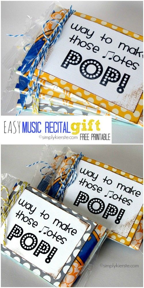 This EASY Music Recital Gift is a cute way to recognize music students for their hard work! EASY to put together with this free printable and popcorn!
