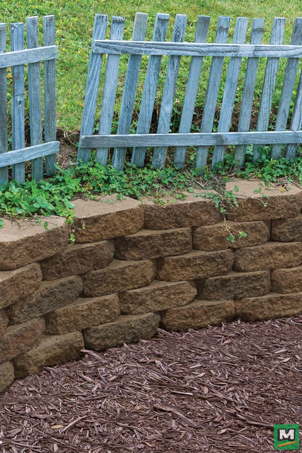 Customize Your Outdoor Space With Crestone Beveled Retaining Wall Blocks With These Wedge Shaped Blocks Landscape Design Retaining Wall Backyard Landscaping