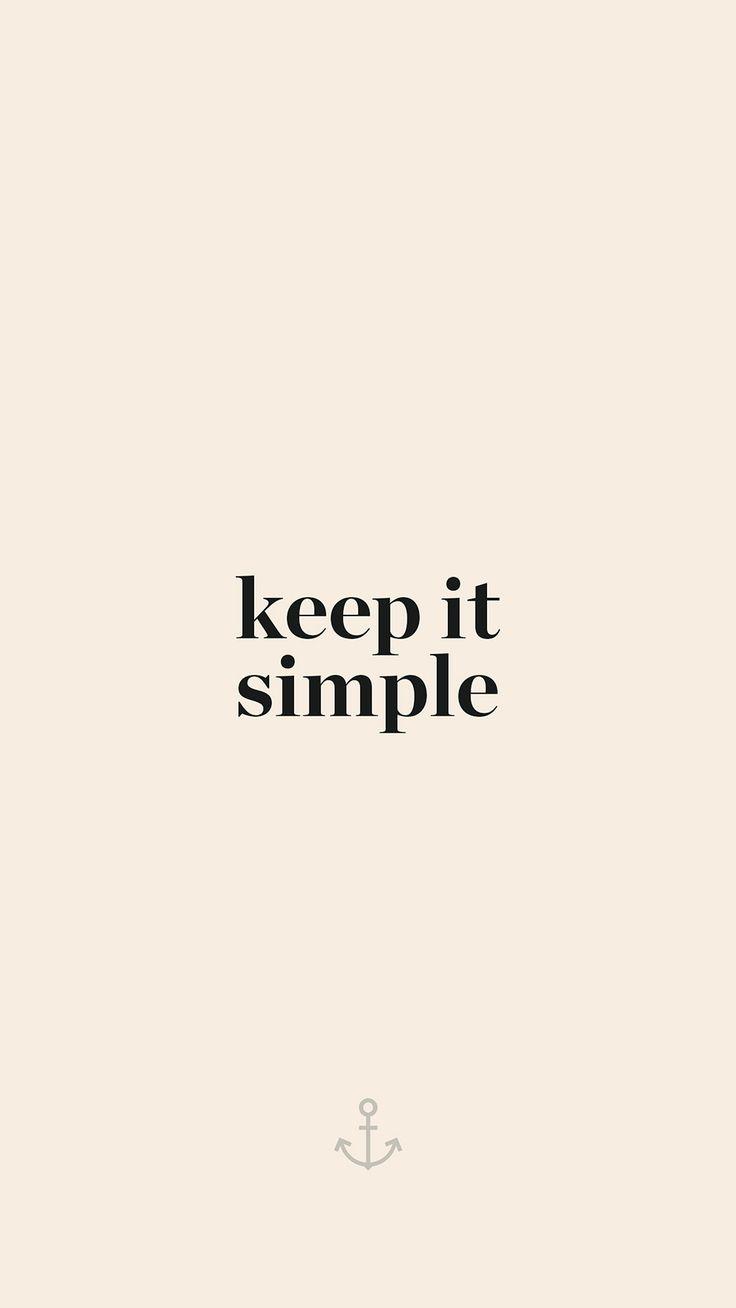 Keep It Simple Minimal iPhone 6+ HD Wallpaper