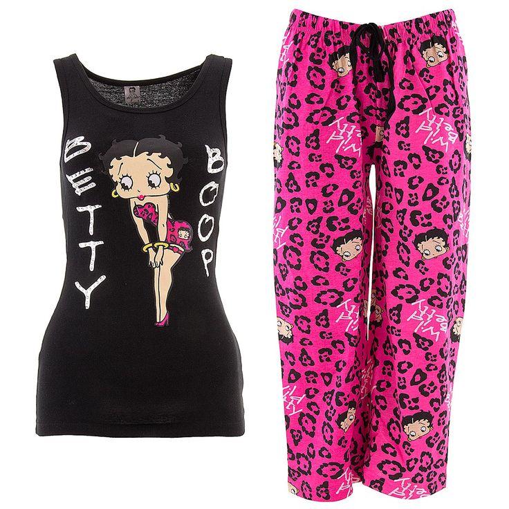 Betty Boop Wild Betty Capri Pajamas for Women - Sleepwear Gift Ideas: Pajamas for Women