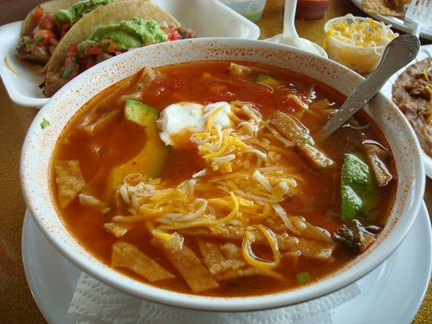 Chicken Tortilla Soup--the real deal, quite authentic (I do not make ...