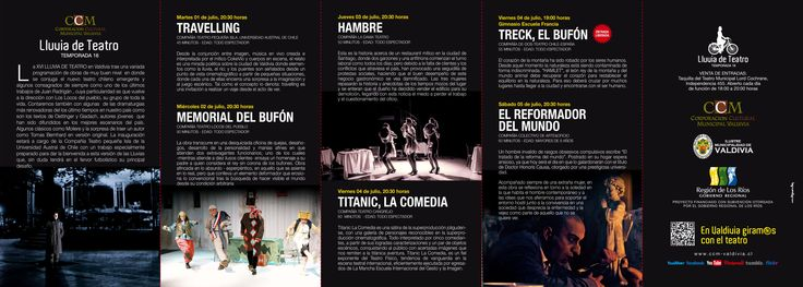 PROGRAMA XVI° versión de la Lluvia Internacional de Teatro de Valdivia