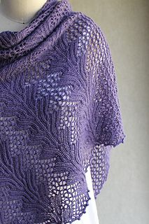 Leaf and mesh lace give this triangle shawl a dual personality - sometimes dressy, sometimes casual, always playful. And a nice bonus, the stitch pattern looks equally good from both sides.