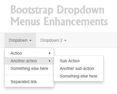 Bootstrap Dropdown Menus Enhancement
