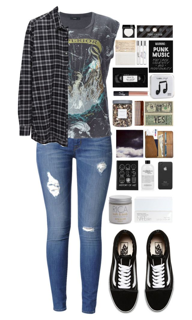 """Sanitarium"" by ellac9914 ❤ liked on Polyvore featuring мода, Vans, Hudson Jeans, Diesel, Happy Plugs, Chronicle Books, philosophy, NARS Cosmetics, Threshold и Polaroid"