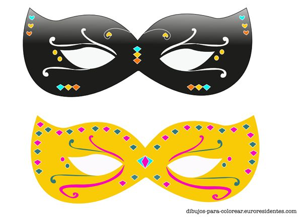 Carnival mask for print. Máscaras de carnaval para imprimir. http://dibujos-para-colorear.euroresidentes.com/2014/02/originales-y-bonitas-mascaras-de.html