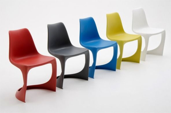 Color line of the 290 MODO injection molded dining chair in one piece, perfect for both indoor and outdoor use. Designed by Danish furniture designer Steen Ostergaard in 1966, this is the matte version, produced by Nielaus.dk light, cantilever, beautiful and stackable.