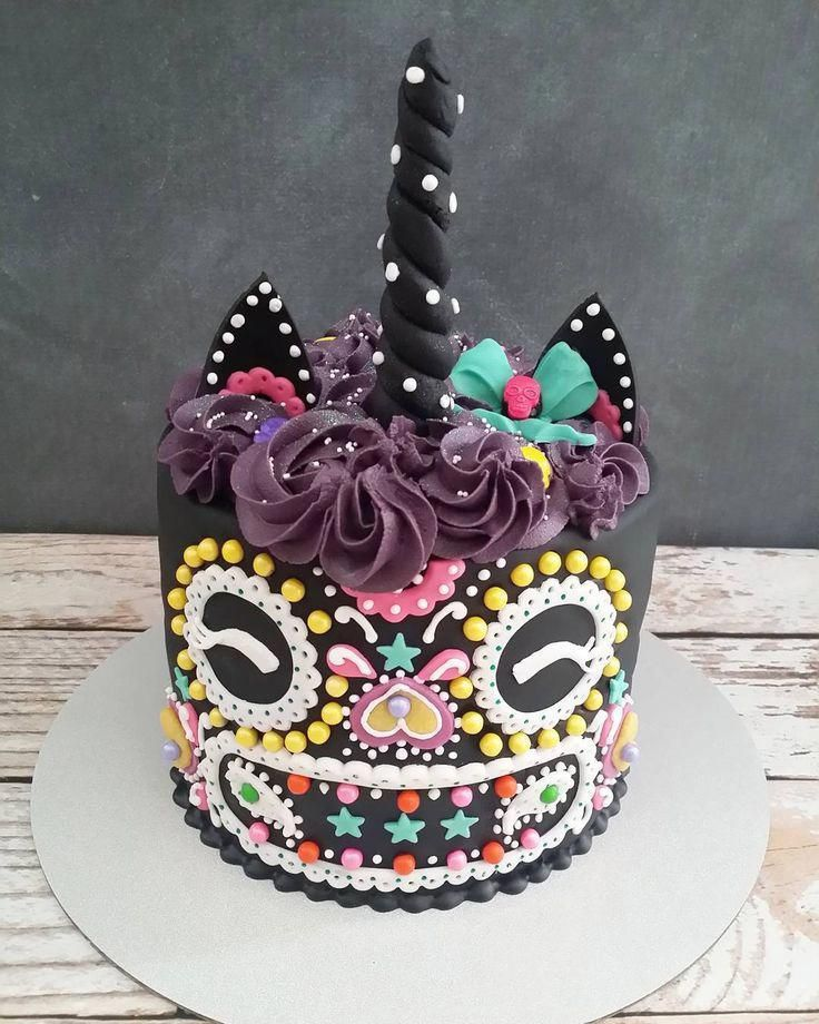 ¡El día de los unicornios muertos! Pastel de Halloween Unicornio – Comida Deko …   – unicorn cake recipes