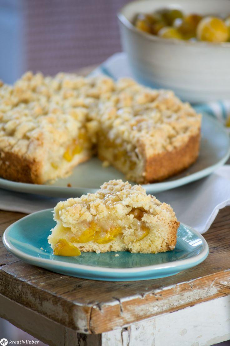 Rezept für Mirabellenkuchen   – Kreativfieber Backen – Kuchen, Cupcakes und Co.