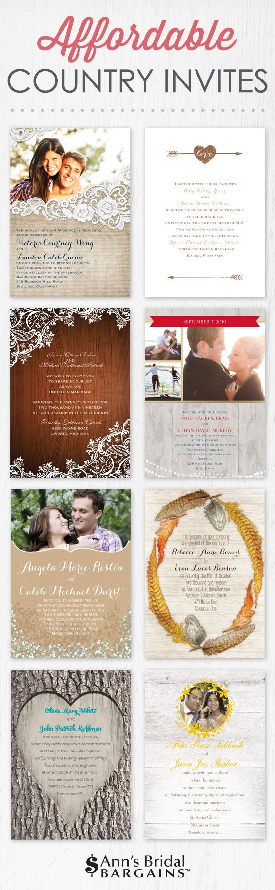 realtree wedding invitations%0A Country wedding invitations that won u    t cost you an arm and a