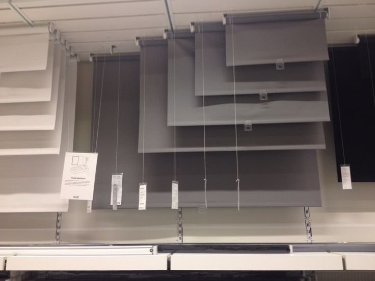 grey pulldown blackout blinds from ikea  living room